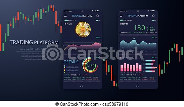 Mobile cryptocurrency ui simple