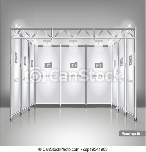 Trade Exhibition Stand Vector : Trade exhibition stand display vector illustration