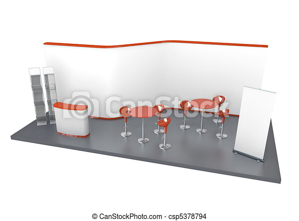 Exhibition Stand Drawing : Trade exhibition stand. trade exhibition stand. 3d rendered