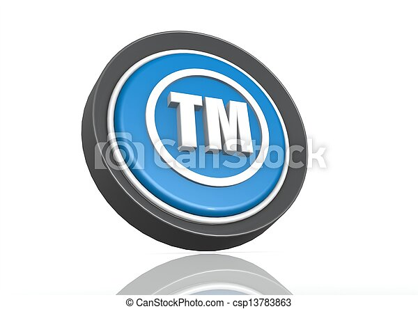 Trade mark round icon in blue - csp13783863