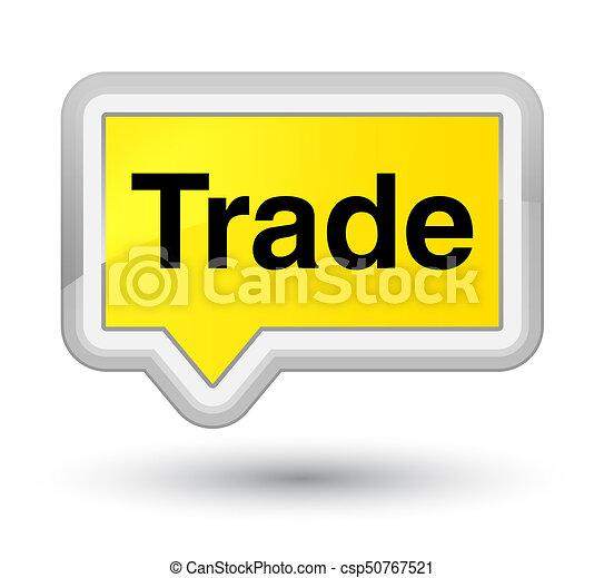 Trade prime yellow banner button - csp50767521