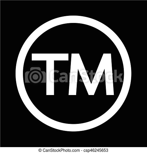 Trademark Symbol Icon Vector Illustration