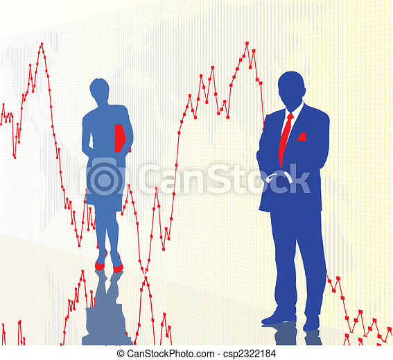 Traders and financial chart - csp2322184
