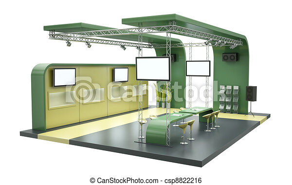 Exhibition Stand Drawing : Tradeshow stand. empty trade exhibition stand isolated on white