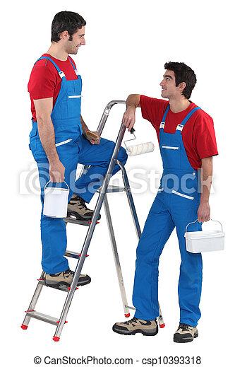 Tradesmen taking a break - csp10393318