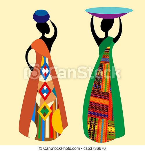 tradicional, africano - csp3736676