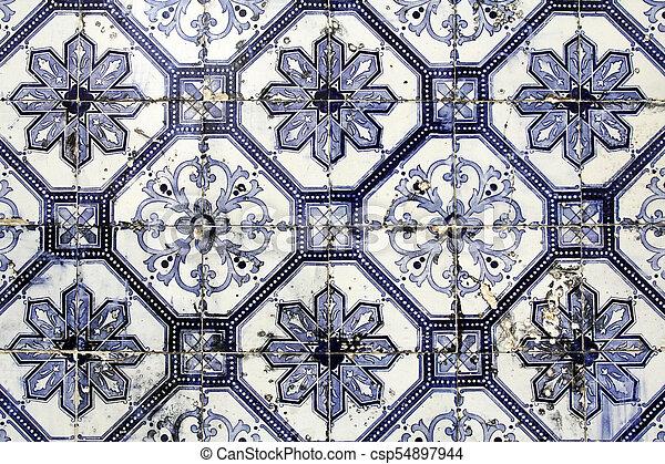 Trasfondo de azulejos tradicionales - csp54897944