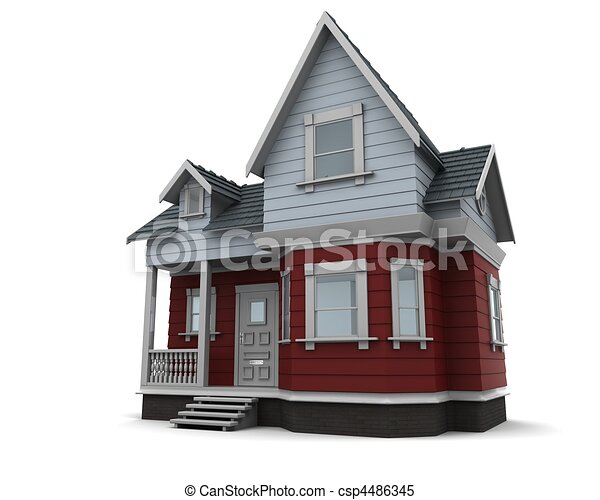 tradicional, casa, madeira - csp4486345
