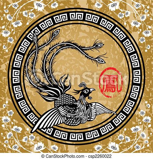 tradicional, chinês, phoenix - csp2260022