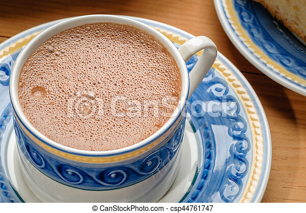 tradicional, chocolate, mexicano, copo - csp44761747