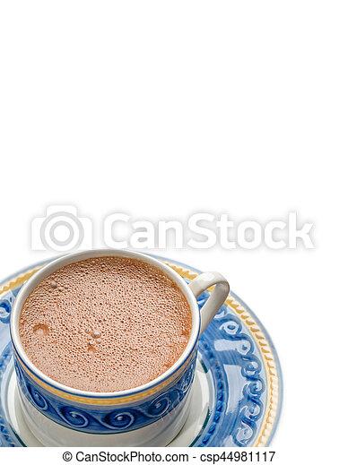 tradicional, chocolate, mexicano, isolado, copo - csp44981117