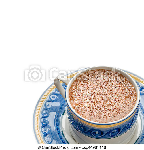 tradicional, chocolate, mexicano, isolado, copo - csp44981118