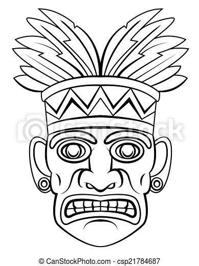 Máscara tradicional - csp21784687