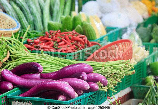 Mercado tradicional asiático - csp41250445