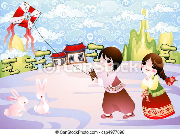 Nuevo año coreano - csp4977096