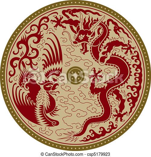tradicional, ornamento, chinês - csp5179923