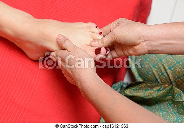 tradicional, pé, tailandês, massagem - csp16121363