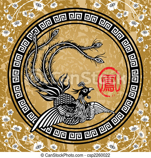 Fénix tradicional chino - csp2260022