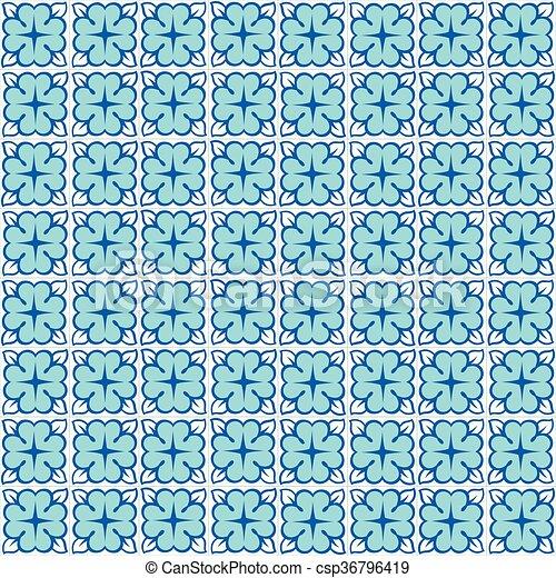 Azulejos tradicionales ornativos portugueses - csp36796419