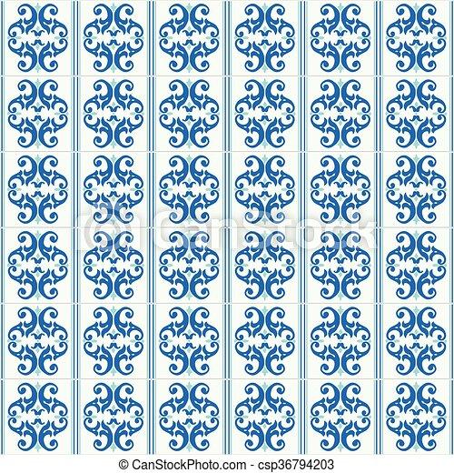 Azulejos tradicionales ornativos portugueses - csp36794203
