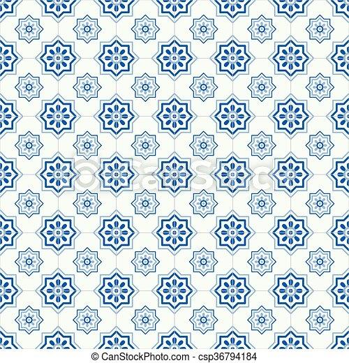 Azulejos tradicionales ornativos portugueses - csp36794184