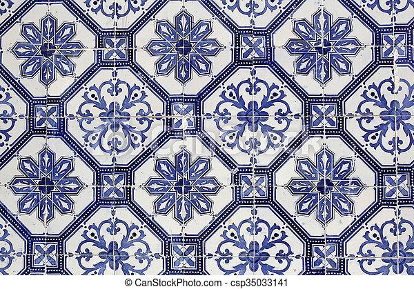 Títulos de cerámica tradicionales portuguesas - csp35033141