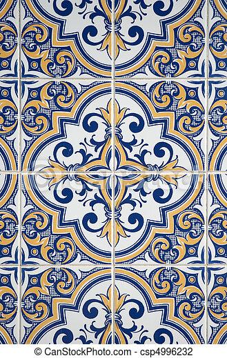 Los azulejos glaseados tradicionales - csp4996232