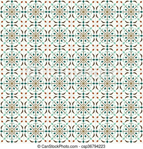 Azulejos tradicionales ornativos portugueses - csp36794223