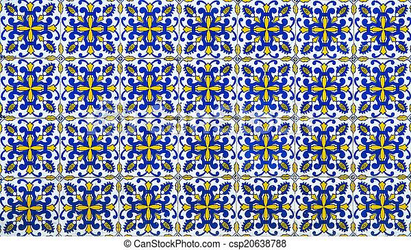 Azulejos, azulejos tradicionales de portugués - csp20638788