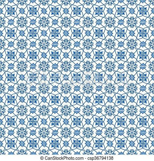 Azulejos tradicionales ornativos portugueses - csp36794138