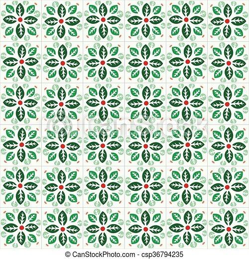 Azulejos tradicionales ornativos portugueses - csp36794235