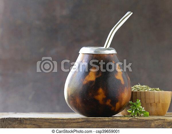 Té tradicional de yerba mate - csp39659001