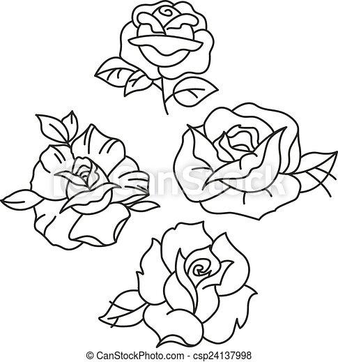 Tradicional Tatuagem Rosas
