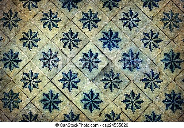 Vintage azulejos, baldosas tradicionales portuguesas - csp24555820