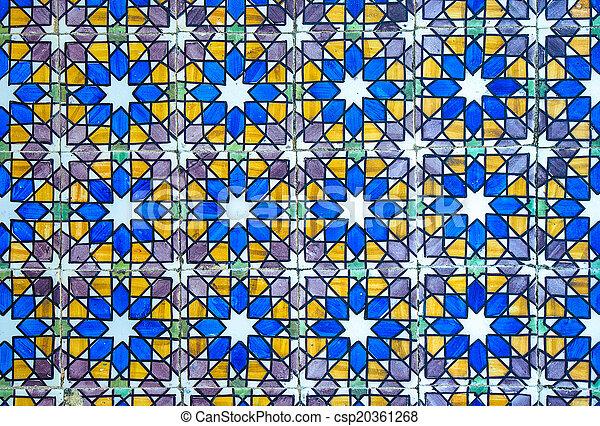 Vintage azulejos, baldosas tradicionales portuguesas - csp20361268