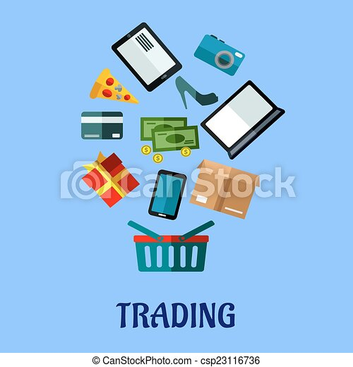 tradingflat poster design for online shopping trading flat rh canstockphoto com victor polster vector post driver