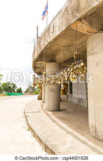 Tradition asian bells in Buddhism temple in Phuket island,Thailand. Famous Big Buddha wish bells - csp44001626