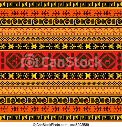 Traditional African pattern - csp6293589