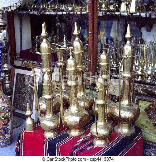 Traditional Arab coffee pots - csp4413374