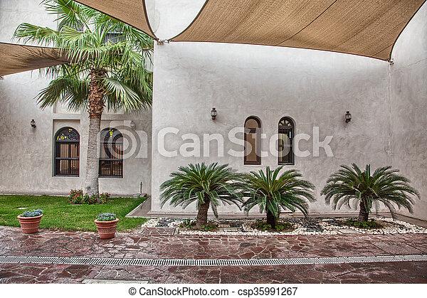 Traditional Arabic architecture in Doha, Qatar - csp35991267