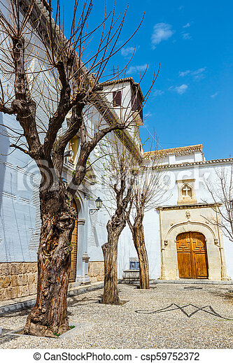 traditional arabic architecture of Andalusia, Albaicin Moorish medieval  quarter, Granada, Spain