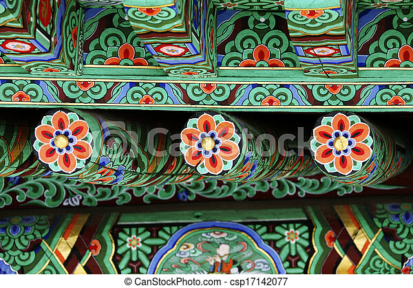 Traditional Architecture In South Koreadancheong Stock Photo