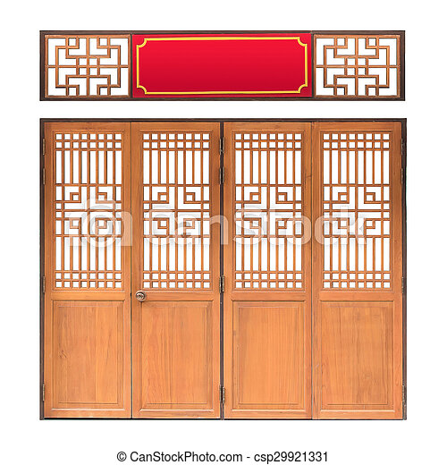 Traditional Asian window and door pattern wood chinese style with clipping path -  sc 1 st  Can Stock Photo & Traditional asian window and door pattern wood chinese style with ...