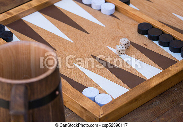 Traditional backgammon game - csp52396117