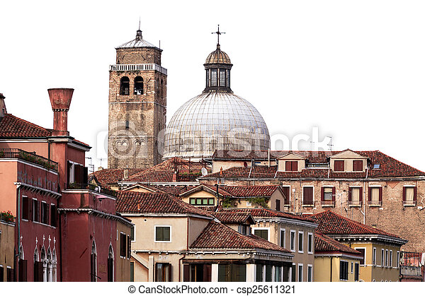 Traditional Buildings in Venice, Italy - csp25611321