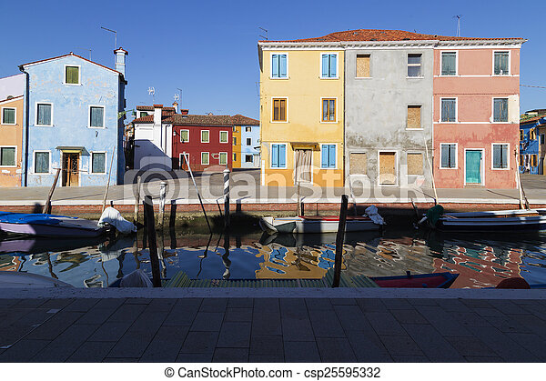 Traditional Buildings in Venice, Italy - csp25595332