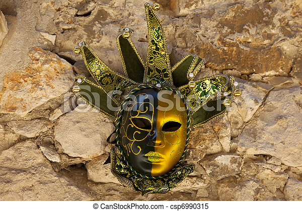 traditional carnival mask in Venice  - csp6990315