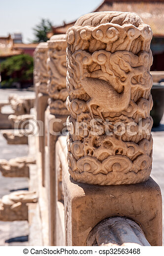 Traditional Chinese carving - csp32563468