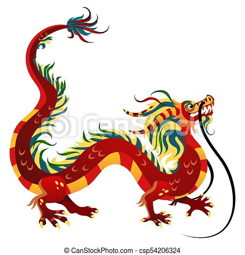 traditional chinese dragon ancient symbol of asian or china