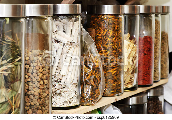 Traditional Chinese herbal medicines - csp6125909
